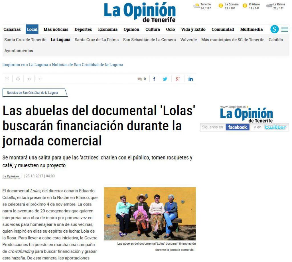 crowdfunding Lolas