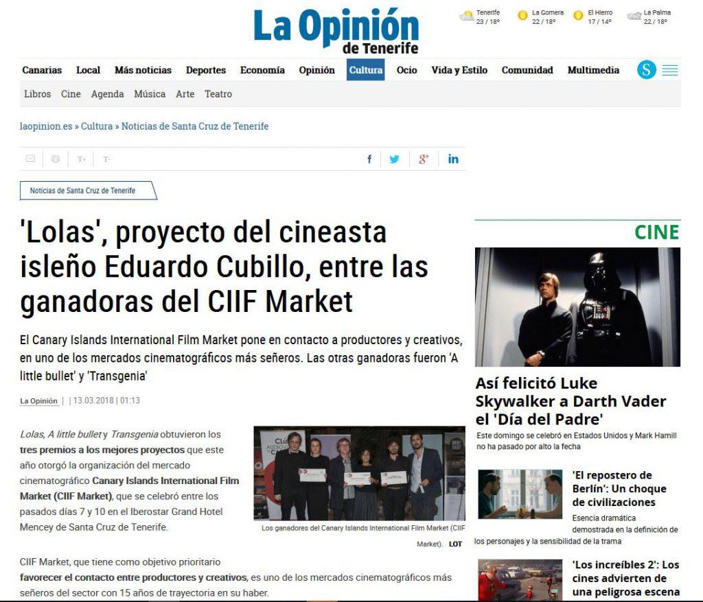 prensa Lolas, Cultura en red